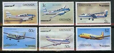Grenada Scott 749-754 airplanes MNH 1976