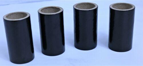 "100 Black fireworks Tubes Shells 1"" x 2-1/2 x 1/8 thick  w/ 200 Paper plugs 37mm"