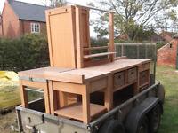 Enitre kitchen, Habitat Oliva solid beech kitchen units, excellent condition