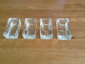 Set of 4 Glass Ashtrays