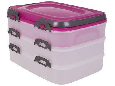 Kunststoff-behälter Mit Deckel (Tortenbehälter Dolce mit Deckel 40 x 30 x 24,3 cm Farbenmix DOMOTTI)
