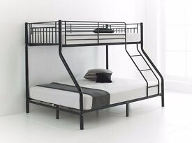 """""""LIMITED TIME OFFER"""" Brand New Trio Sleeper Metal Bunk Bed Frame And/Or With Variety Of Mattress**"""