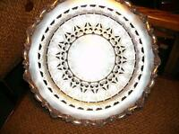 Footed Silver Platter with Scallop