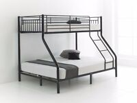 Trio Metal Bunk Bed With Mattress Choice-------We Deliver It Today