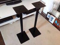 2 x Speaker Stands, black, 120cm tall