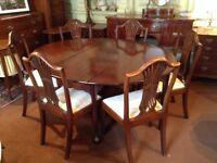 Dining Table - Georgian mahogany drop leaf table