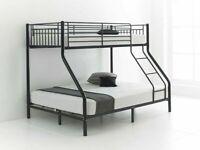 🎊🎁🎉Amazing Offer🎊🎁🎉kids bed/Trio Metal Bunk Bed Frame-optional mattress