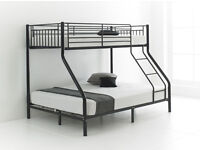 70% off: Trio Sleeper Metal Bunk Bed Frame - Available with Mattresses