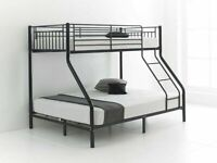 🎊🎁🎉Shop All You Want🎊🎁🎉kids bed/Trio Metal Bunk Bed Frame-optional mattress-call now