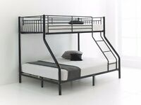 🔴LOWEST PRICE IN UK🔵kids bed/Trio Metal Bunk Bed Frame-optional mattress-call now