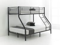 7-DAYS MONEY BACK GUARANTEE BRAND NEW TRIO SLEEPER BUNK BED AND MATTRESS SAME DAY EXPRESS DELIVERY