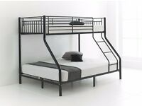 ''REAL DEAL'' -- Trio Sleeper Metal Bunk Bed Frame With 2 x Mattresses -- ''GET YOUR ORDER TODAY''