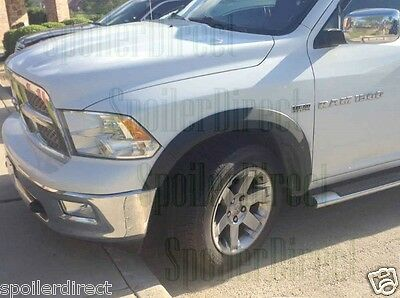 FOR 2011-2016 RAM 1500 QUAD CAB FACTORY STYLE FENDER FLARES - TEXTURED FINISH