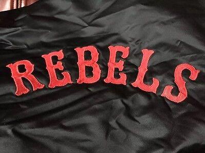 Vintage REBELS Lary #1 Emborider G Game Black Color Jacket. Size L Rare!
