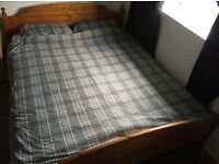 "~ IKEA ~ LADA ~ SOLID WOOD (PINE) BED FRAME~ 6' 7"" long x 5' 7"" wide ~"