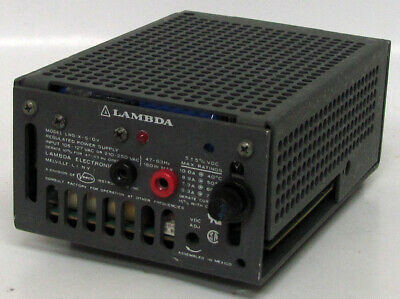 Lambda Lns-x-5-ov Regulated Power Supply 5vdc 5v Dc Output Powers On 5.3-10a
