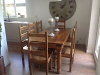 Sheesham wood dining table with 8 chairs
