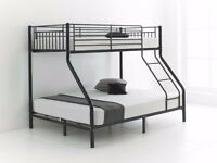 Express Delivery All Over in London Single and Trio Metal Bunk Bed with Mattresses -- Brand New --