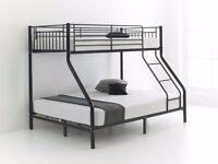 Single/Trio Sleeper Metal Bunk Bed With Variety Of Mattress ** SAME DAY DELIVERY**