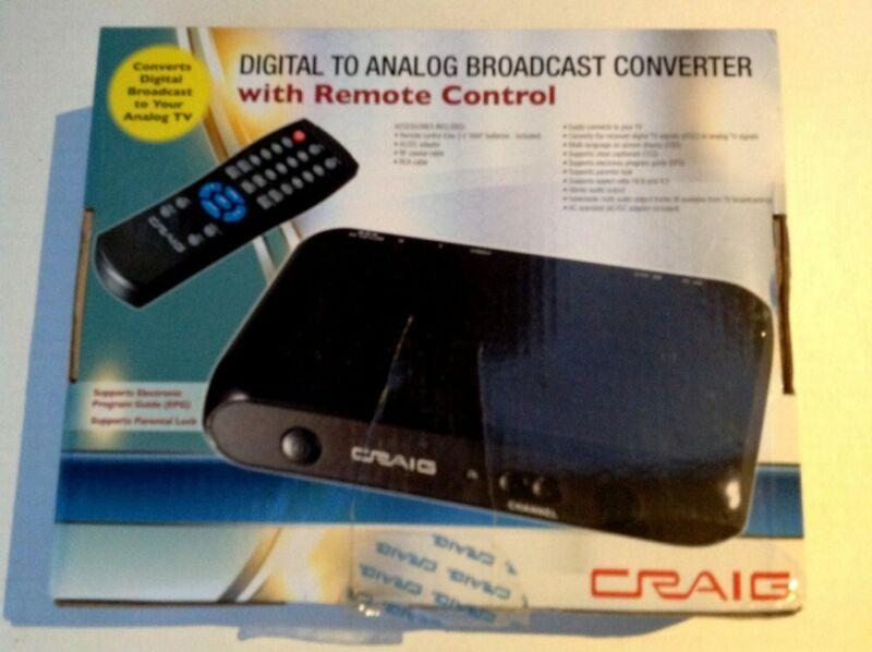 New Craig Digital To Analog Broadcast Converter Box Model CVD508 - Converter Bo
