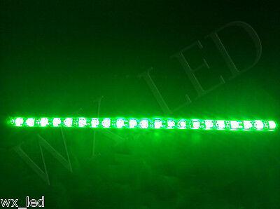 Universal 194 168 158 921 T10  14'' 21 SMD 5050 high power led Strip Green 2pcs