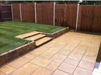 Slabbing/fencing/brickwork/turf
