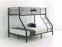 """RRP£300"" ""ROBUST FRAME"" New Alexa Trio Sleeper Metal Bunk Bed Frame And/Or With Variety Of Mattress"