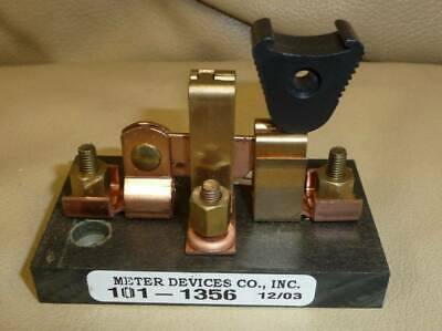 Meter Devices Co Knife Switch Single Pole Blade Copper Brass 101-616