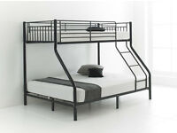 LIMITED OFFER !! Triple Metal Bunk Bed with Mattress Options - SAME DAY DELIVERY! - ALL OVER LONDON