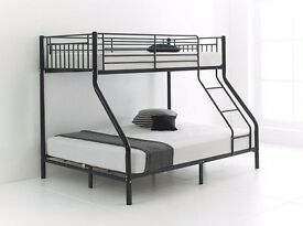 **CHRISTMAS SALE** BRAND New Alexa Trio Sleeper Metal Bunk Bed Frame And/Or With Variety Of Mattress