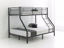 🔵💖🔴SUPER SALE🔵💖🔴BRAND NEW STRONG METAL TRIO SLEEPER BUNK BED ON SPECIAL OFFER 👠