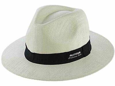 Panama Jack Original PJ143 Matte Toyo Straw Safari Hat in Ivory - L/XL
