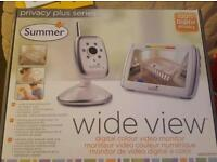 REDUCED PRICE Summer Wide View Baby Video Monitor