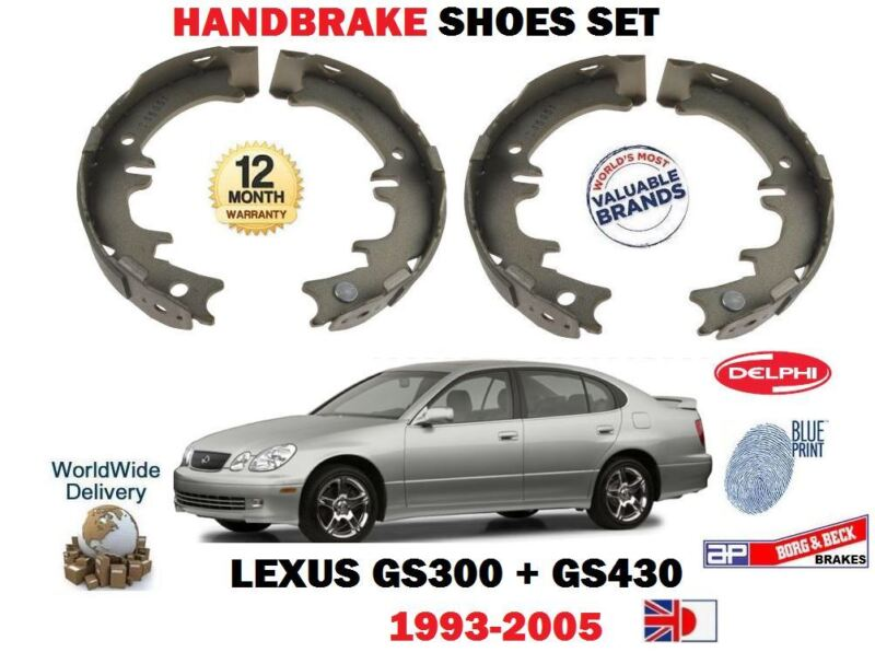 FOR LEXUS GS300 GS430 3.0i 8/1993-2005 NEW REAR DISC HAND BRAKE SHOES SET