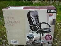 Electric massage office chair NEW Unopened