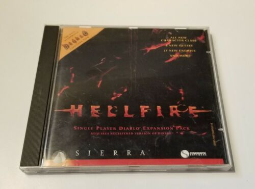 Computer Games - WORKING! Hellfire Diablo Expansion PC Computer Game 1997 by Sierra
