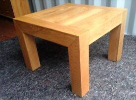 Solid Oak Side Table From Oak Furniture Land - Excellent Condition