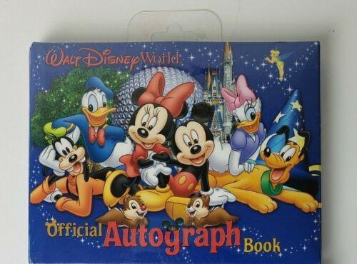 Walt Disney World Official Autograph Book Brand New Sealed Blue Mickey & Minnie