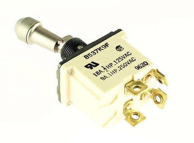 New Eaton 8537k9f Full Size Toggle Switch Lever Lock Dpst 18a 125v 18 Amp