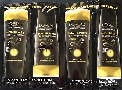 L'Oreal Paris Total Repair 5 Restoring Shampoo & Conditioner Samples (2 of Each)
