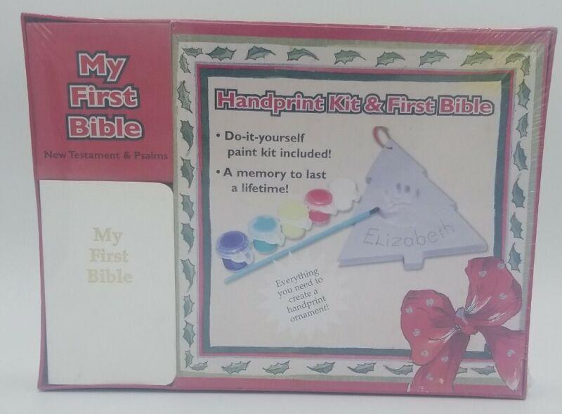 Handprint Kit & First Bible (New Testament and Psalms) New Old Stock NIB