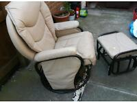 Recliner Rocking maternity chair & Stool