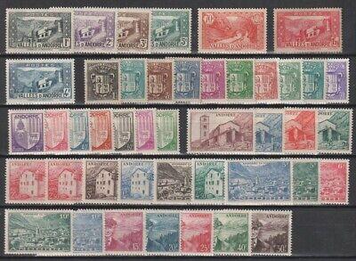 French Andorra 1932 - 1947 MH Set, Part Sets CV $107.30