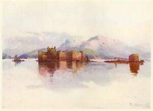Castelli-MALPAGA-di-CANNERO-Lago-Maggiore-Cannobio-Verbania-Stampa-Antica-1905