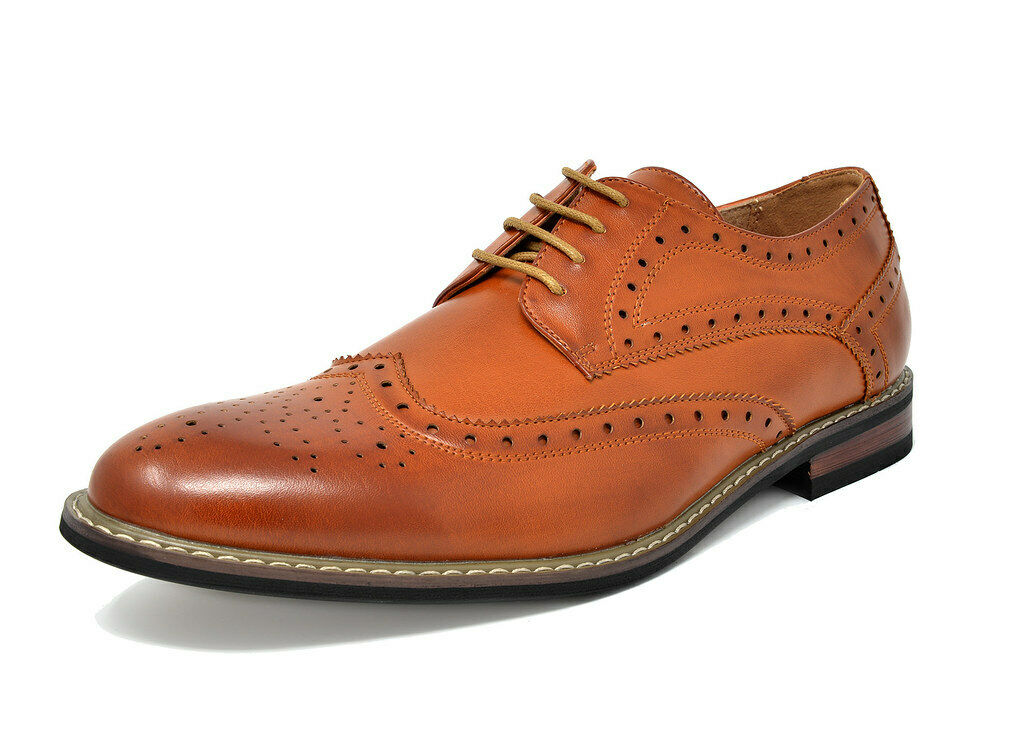 Bruno Marc Mens Formal Classic Modern Oxford Wingtip Lace Up Dress Shoes New 1
