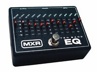 MXR 10 BAND EQ PEDAL WITH POWER SUPPLY