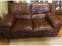 2 X 2 seater sofa + 1 X armchair (leather)