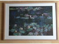 Monet's masterpiece Waterlilies large framed art print