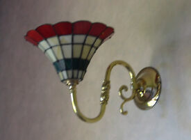 Two Beautiful Tiffany Wall Lights Made Of Stained Glass
