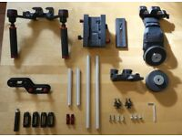 Manfrotto Sympla Lightweight Shoulder Kit rig with MVA513W quick release plate